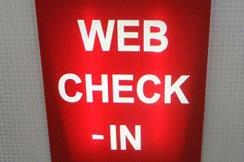Web check-in
