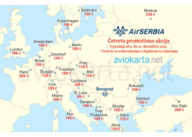 Air Serbia: Počela četvrta promotivna akcija