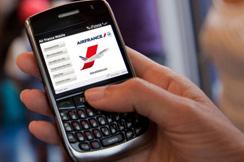 Registracija za let mobilnim telefonom