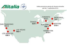 Alitalia: Velika promocija do Severne Amerike