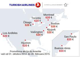 Velika promotivna akcija Turkish Airlinesa za Ameriku