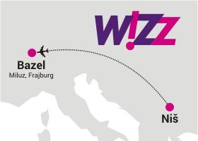 Wizz Air otvara liniju od Niša do Bazela od jula 2015