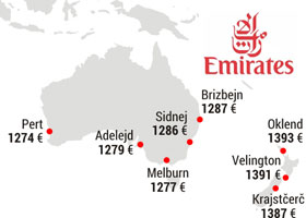 Emirates trajno snizio cene za sve svoje destinacije