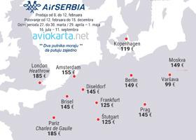 Air Serbia - velika promocija za Dan zaljubljenih!