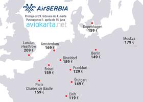 Air Serbia - promocija za 32 grada