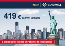 Air Serbia produžila promociju za Njujork