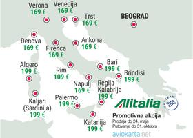 Alitalia - prolećna promocija za Italiju.