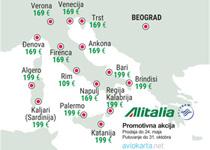 Alitalia - jesenja promocija za Italiju i Evropu