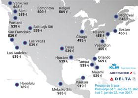 Air France & KLM - promocija za SAD i Kanadu!