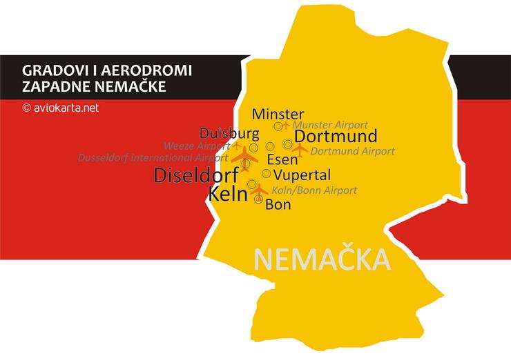 mapa nemacke keln Alternativni aerodromi i njihove gravitacione zone   Aviokarta.net mapa nemacke keln