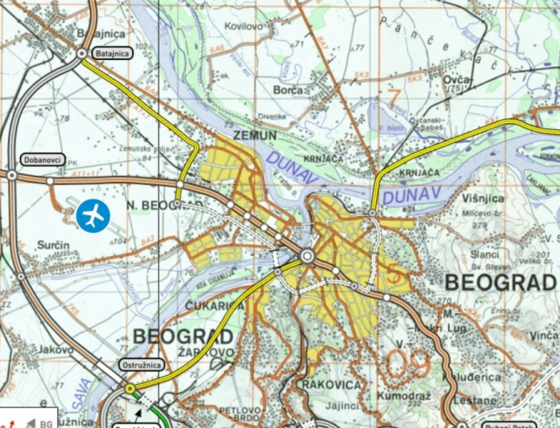 elektronska mapa beograda Beograd   Nikola Tesla   Aviokarta.net elektronska mapa beograda