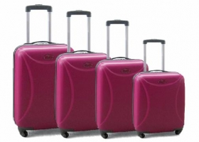 4piecepinkluggageset